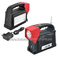 Фонарь переносной(фонарь светодиодный аккумуляторный) YAJIA 2887, 2W+24SMD, радио, power bank