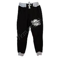 Спортивные штаны детские Реплика Nike подростковые (8-12 лет) трикотажные Черные Оптом.