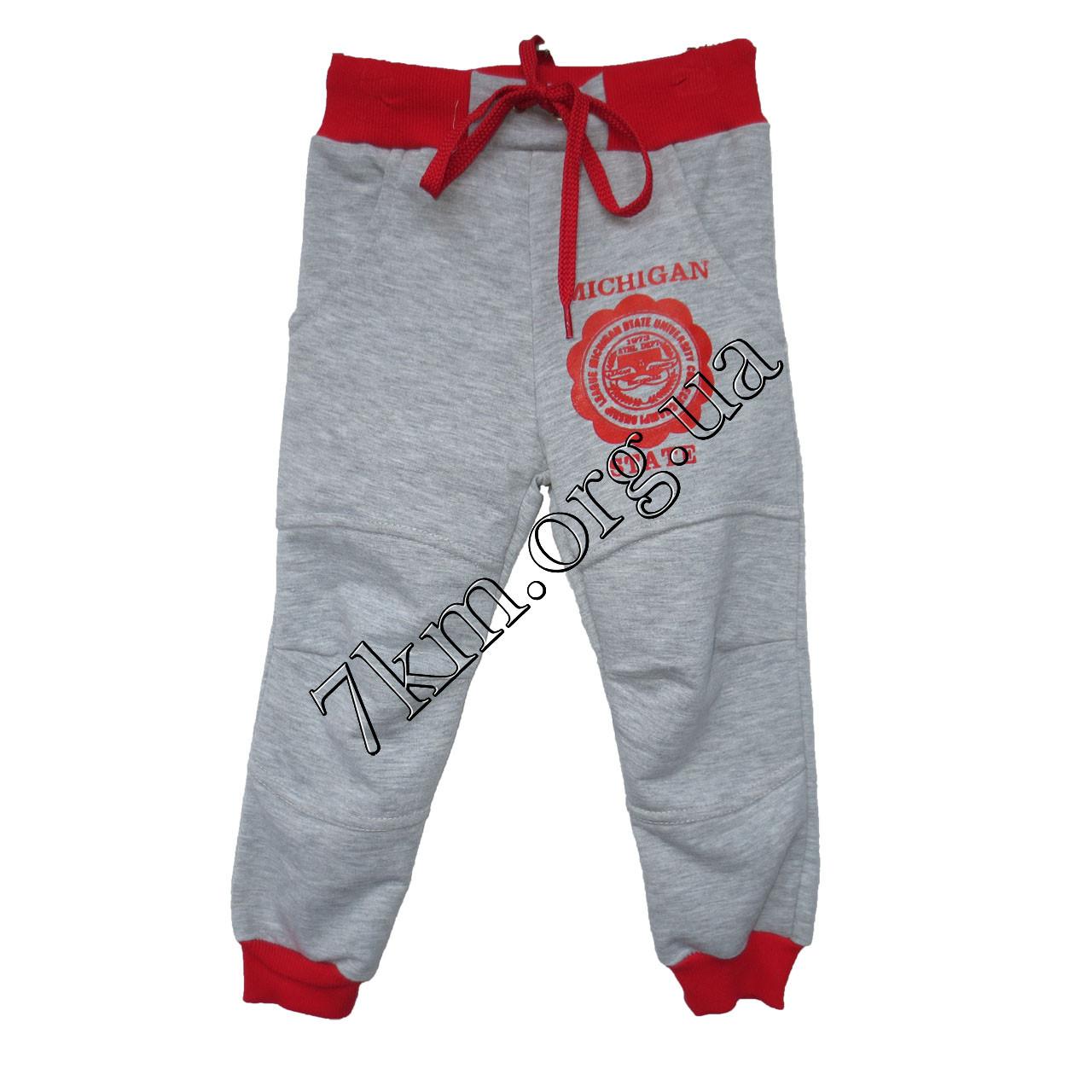 Спортивные штаны Micigan для девочек (2-5лет) трикотажные  Серые