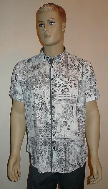 Черно-белая легкая рубашка AYGEN