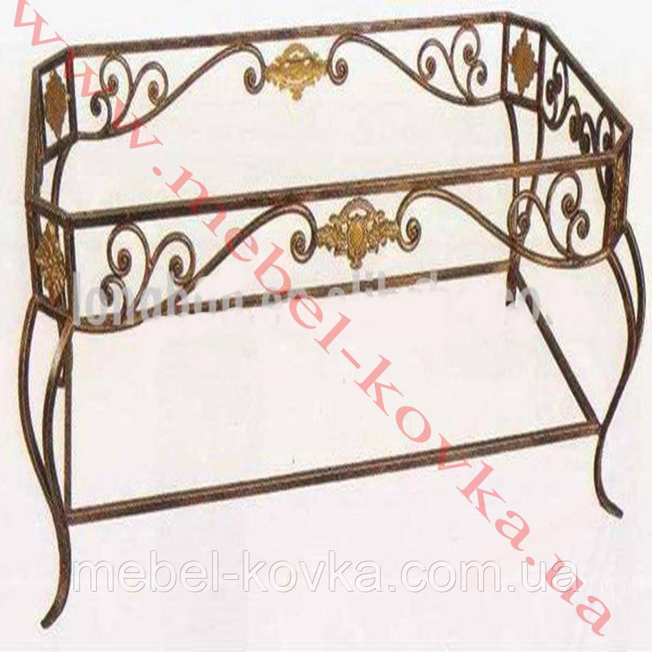 Кованый стол со стеклянной столешницей54