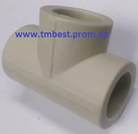 Тройник полипропиленовый ппр равный диаметр 40х40х40 для разводки воды в системах отопления.