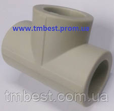 Тройник полипропиленовый равный диаметр 25х25х25 для разводки воды в системах водоснабжения и отопле