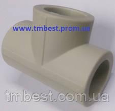Тройник полипропиленовый равный диаметр 25х25х25 для разводки воды в системах водоснабжения и отопления