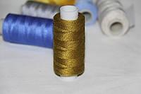 Нитка джинсовая №36 коричнево-желтая