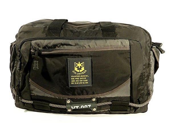 Сумка дорожная спортивная текстильная черная Volunteer 1191-30
