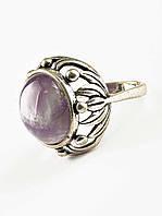 Модное кольцо с аметистом
