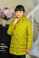 Детские куртки весенние для девочки''Бусинки'',оливковый 32,34,36,38