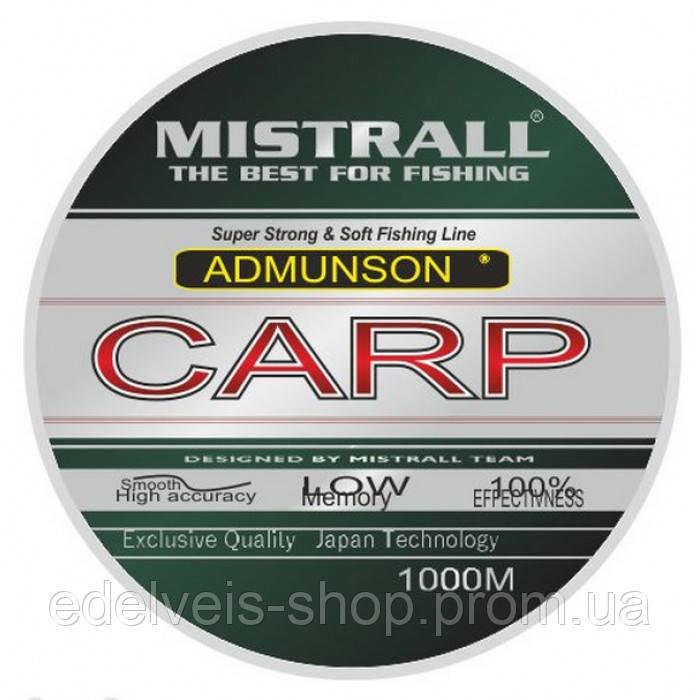 Леска карповая 1000 м Mistrall Amundson Carp (Польша)0.30