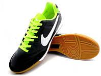 Футзалки (бампы) Nike Tiempo Genio IC Black/White/Neo Lime, фото 1