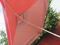Садовый Зонт 2х2 торговый зонт квадратный с клапаном, фото 1