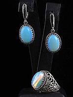 Подарочный набор украшений с лунным камнем