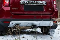 Накладка заднего бампера Renault Duster 2010+ серый. толщина 2мм