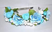 Женский обруч с голубыми цветами
