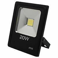 Прожектор светодиодный LL-847 1LED 20W белый 6400K 230V (180*140*42mm) Черный