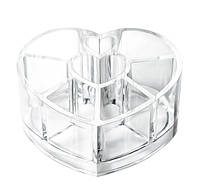 Органайзер для косметики сердце 8  ячеек