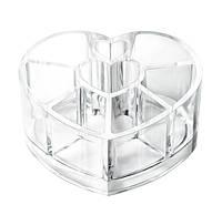 Органайзер для косметики сердце 8  ячеек , фото 1