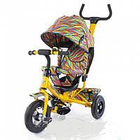 Детский велосипед надувные колеса трехколесный tilly trike перья t-351-2 желтый