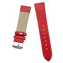 Ремешок для часов гладкий красный (16 мм), фото 3