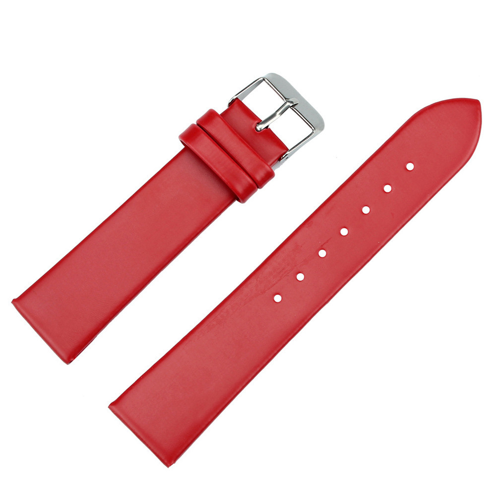 Ремешок для часов гладкий красный (16 мм)