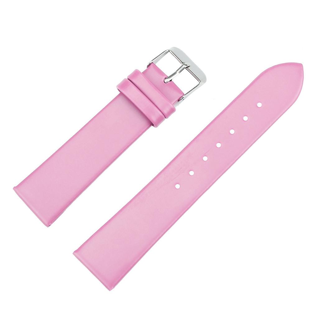 Ремінець для годинника гладкий рожевий (20 мм)