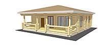 Дом из дикого сруба 12,4x11,2
