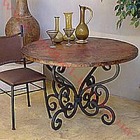 Кованый стол под круглую столешницу 62
