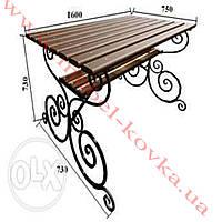 Кованый стол под прямоугольную столешницу 64