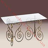Кованый стол под прямоугольную столешницу 65