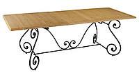 Кованый стол под прямоугольную столешницу 74