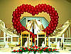 Свадебные сердца из воздушных и гелиевых шаров