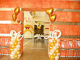 Весільні серця з повітряних та гелієвих кульок, фото 2