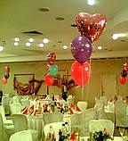 Весільні серця з повітряних та гелієвих кульок, фото 3