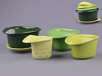 "Набор для завтрака 5 предметов зеленый ""Sandwich"""