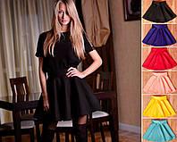 Женская стильная юбка на молнии Санита6 расцветок