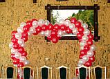 Весільні серця з повітряних та гелієвих кульок, фото 5