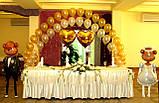 Весільні серця з повітряних та гелієвих кульок, фото 6