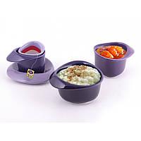 """Набор для завтрака 5 предметов фиолетовый """"Sandwich"""""""
