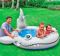 """Детский надувной бассейн """"Акула""""57433"""