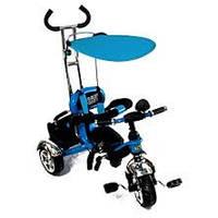 Детский трехколесный синий велосипед bt-ct-0012 с ручкой combi trike