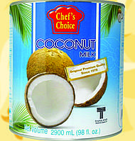 Молоко Кокосове, CHEF'S CHOICE, 2900мл, 18%, Gf