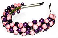 Украшение для волос Розово-фиолетовые ягодки