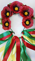 Венок Маки для костюма украиночки
