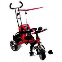 Детский трехколесный красный велосипед bt-ct-0012 с ручкой combi trike
