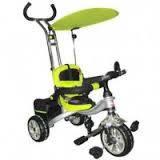 Детский трехколесный зеленый велосипед bt-ct-0012 с ручкой combi trike
