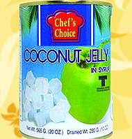 Кокосовое желе в сиропе, кубики, 565 гр, CHEF'S CHOICE, Gf