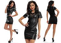 Платье женское вечернее с перфорацией - Черный