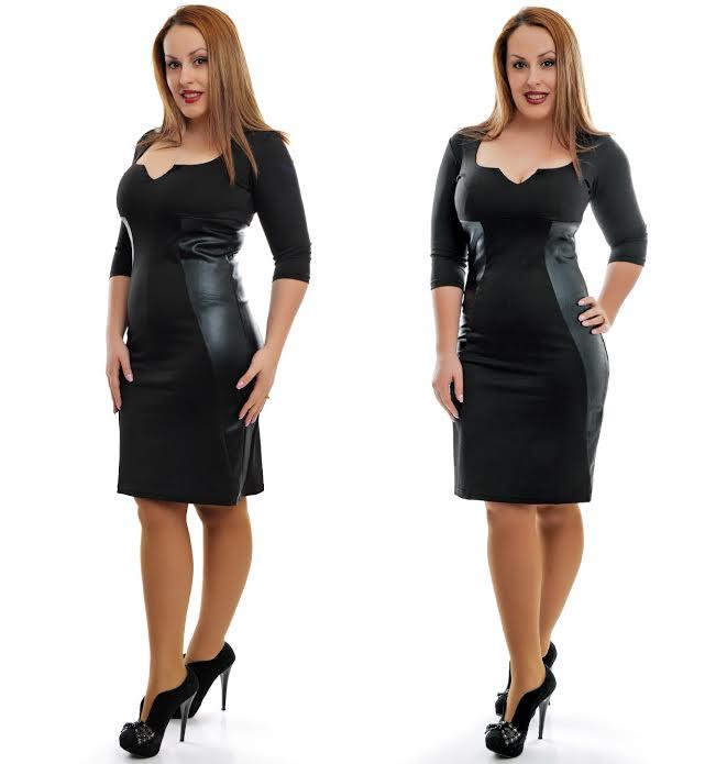 Большие размеры кожаные платья