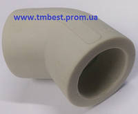 Угол полипропиленовый ппр диаметр 50х45 градусов для поворота труб под углом в системах водоснабжени