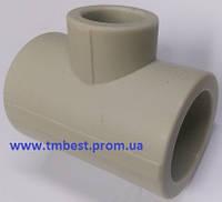 Тройник полипропиленовый ппр редукционный диаметр 32х25х32 для разводки воды в системах отопления.